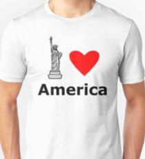 Camiseta unisex I Love America