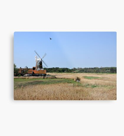 Cley Windmill with royal wedding bunting Metal Print