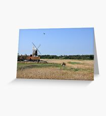 Cley Windmill with royal wedding bunting Greeting Card