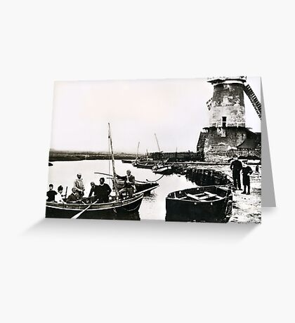 Cley windmill - the shooting party 1888 Greeting Card