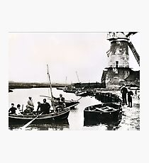 Cley windmill - the shooting party 1888 Photographic Print
