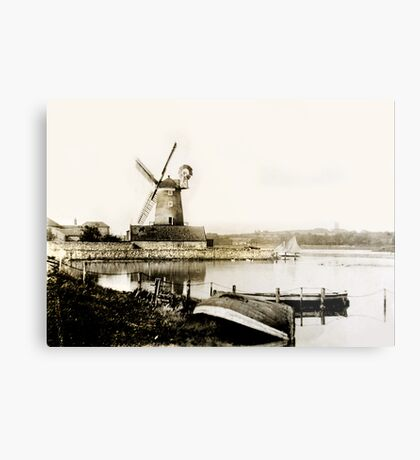 Cley Windmill marsh tide 1900 Metal Print