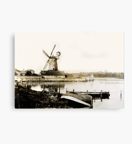 Cley Windmill marsh tide 1900 Canvas Print