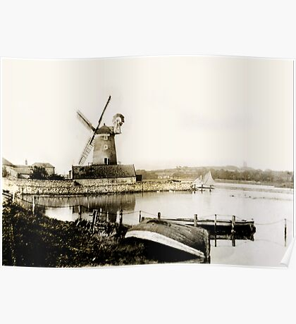 Cley Windmill marsh tide 1900 Poster