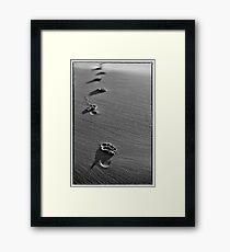 Footprints in Time Framed Print
