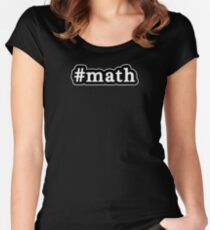 Math - Hashtag - Black & White Women's Fitted Scoop T-Shirt