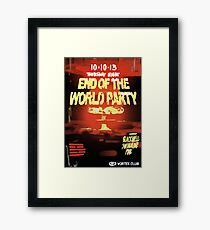 End of The World Party Framed Print