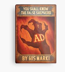 BioShock Infinite – You Shall Know the False Shepherd by His Mark! Poster Metal Print