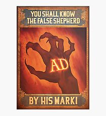 BioShock Infinite – You Shall Know the False Shepherd by His Mark! Poster Photographic Print