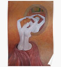 Woman in mirror Poster