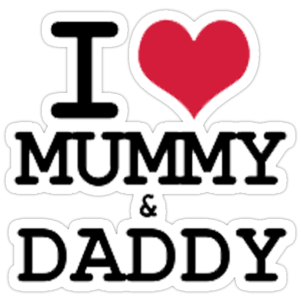 """I Love Mummy & Daddy"" Stickers by Nick Martin 