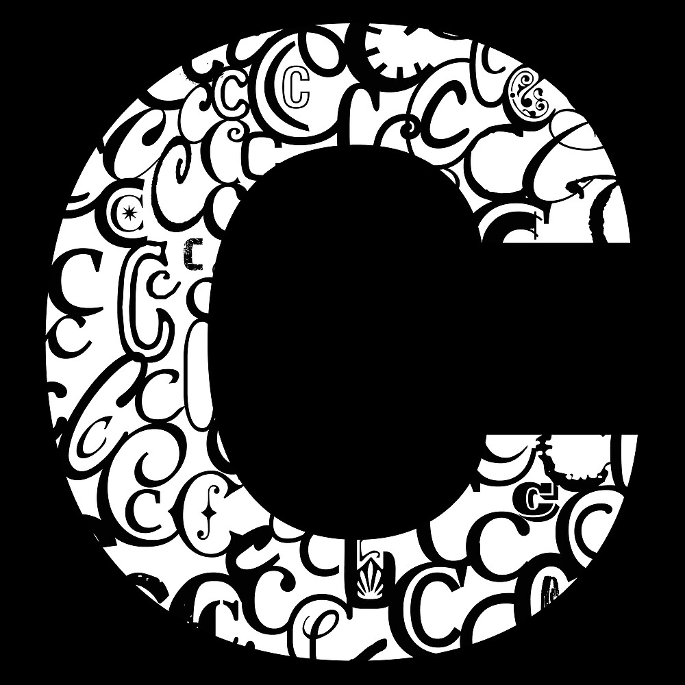 Quot The Letter C Black Background Quot By Julie Hartman Redbubble
