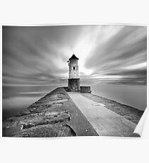 Berwick Upon Tweed Lighthouse (Mono) Poster