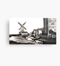 Cley Windmill sea port 1880s Metal Print