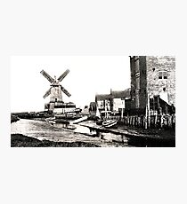 Cley Windmill sea port 1880s Photographic Print