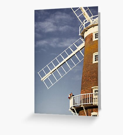 Cley Windmill - Love in the air Greeting Card