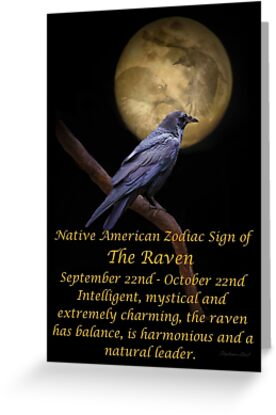 The native american zodiac sign of the raven libra greeting cards the native american zodiac sign of the raven libra m4hsunfo