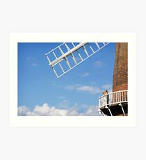 Cley Windmill - Love is in the air Art Print