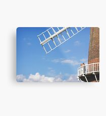 Cley Windmill - Love is in the air Metal Print