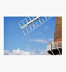 Cley Windmill - Love is in the air Photographic Print