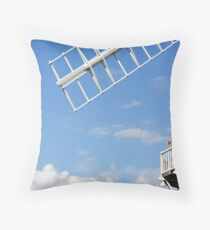 Cley Windmill - Love is in the air Throw Pillow