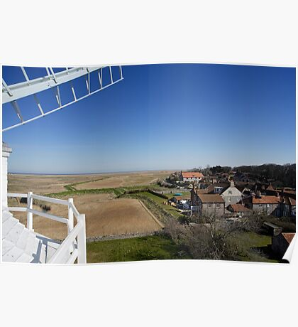 Cley windmill - the view from the fan-stage Poster