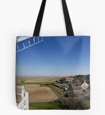 Cley windmill - the view from the fan-stage Tote Bag