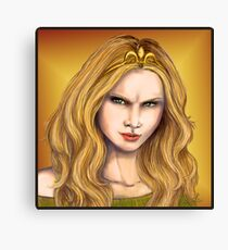 Cersei Lannister, the evil queen Canvas Print