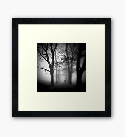 The Familiar Falling Away Framed Print