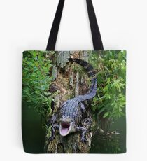 Baby Alligator says OPEN WIDE Tote Bag