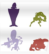 Industrialists - Oddworld Coloured Silhouettes Poster