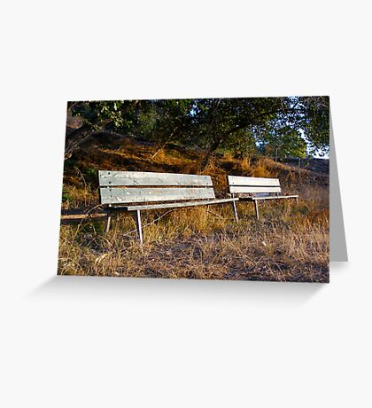 Autumn Benches Greeting Card