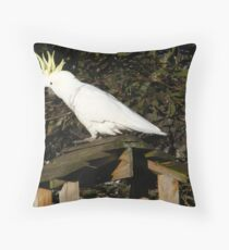 Sulpher crested cockatoo Throw Pillow