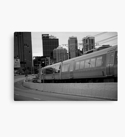 cityscapes #239, onward rush Canvas Print