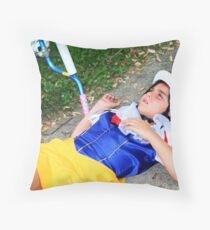 Snow White Portrait Throw Pillow
