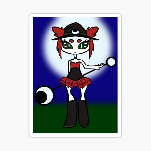 Lunar Rose Witch Sticker