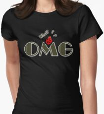 OMG What? Funny & Cute ladybug line art Women's Fitted T-Shirt