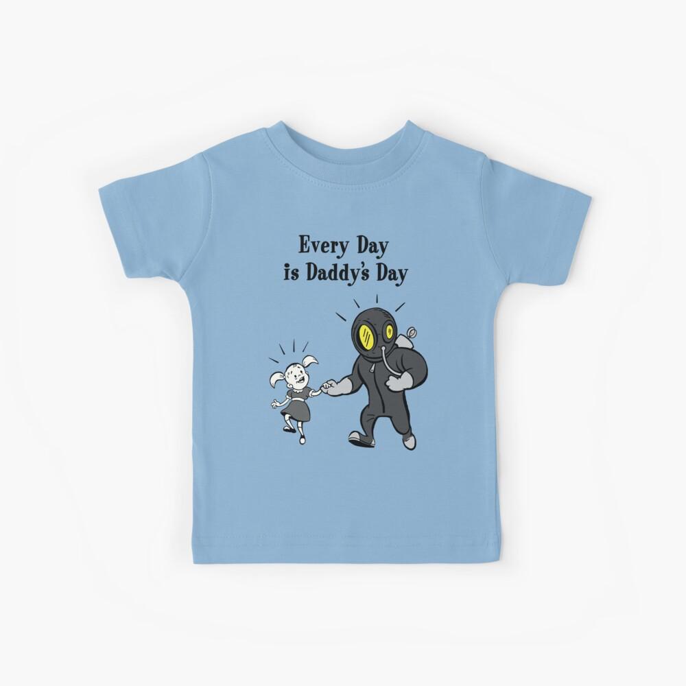 BioShock: todos los días es el póster del día de papá (negro) Camiseta para niños