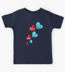 Love like you've never been hurt.hearts art Kids Clothes