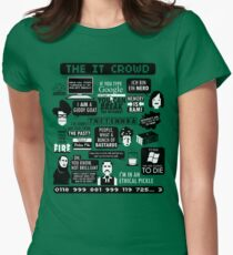The IT Crowd Quotes Women's Fitted T-Shirt
