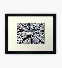 Black & White Spin Painting Framed Print