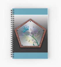 A Floral Wooden Shield Spiral Notebook