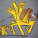 Shooting the man ,shooting street art by JudyBJ