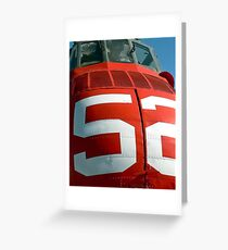 Seabat 52 RED! Greeting Card