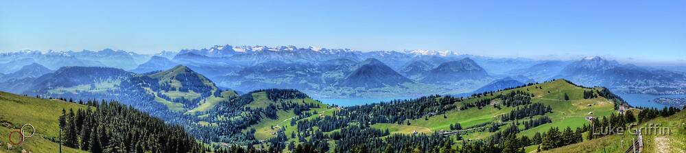 Mt Rigi HDR Panorama by Luke Griffin