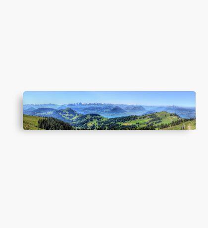 Mt Rigi HDR Panorama Metal Print