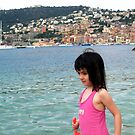 My grand-daughter at Villefranche Sur Mer by daffodil