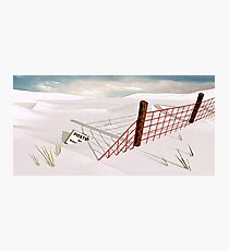 Snow Fence Photographic Print