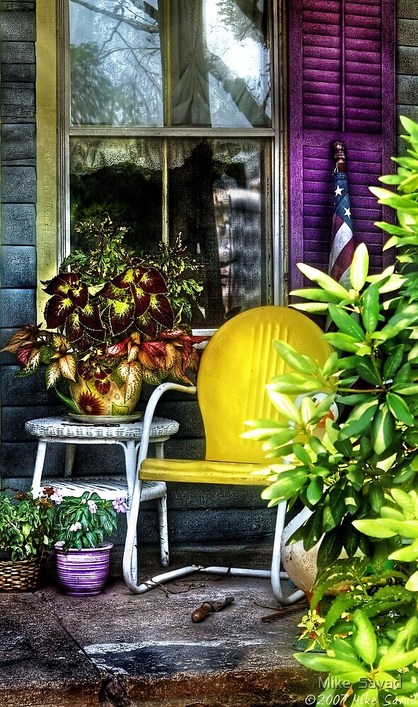 The yellow chair by Mike  Savad