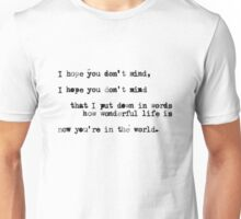 Your Song Unisex T-Shirt